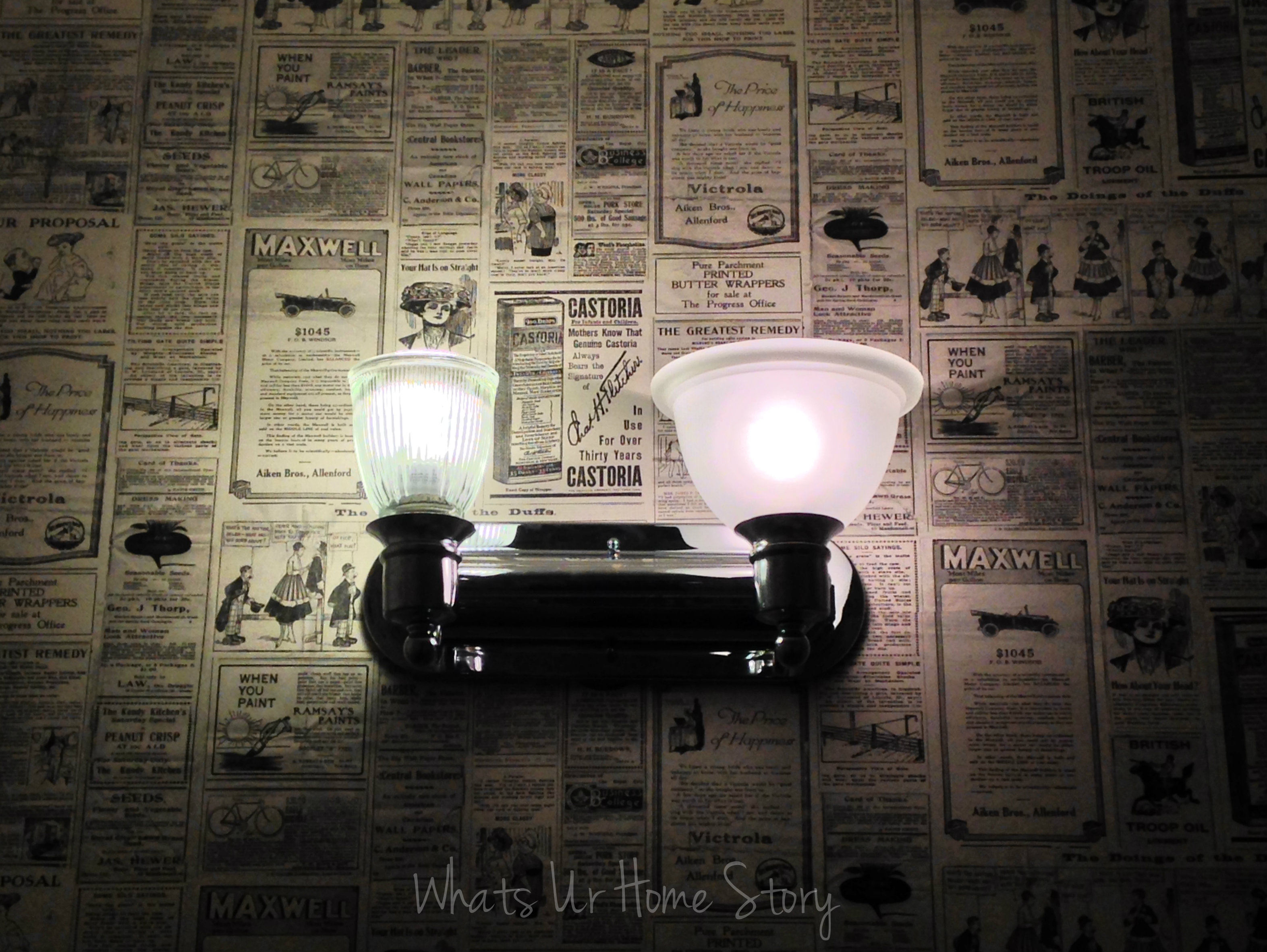 Bathroom Vanity Lights Facing Up bathroom lights..up or down? | whats ur home story