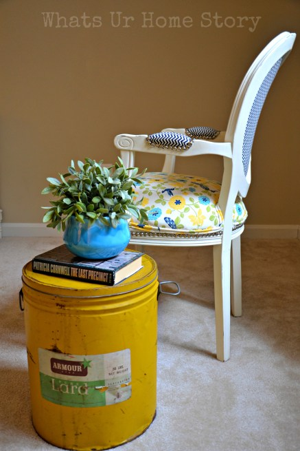 Turn a Vintage Lard Can into a Side Table
