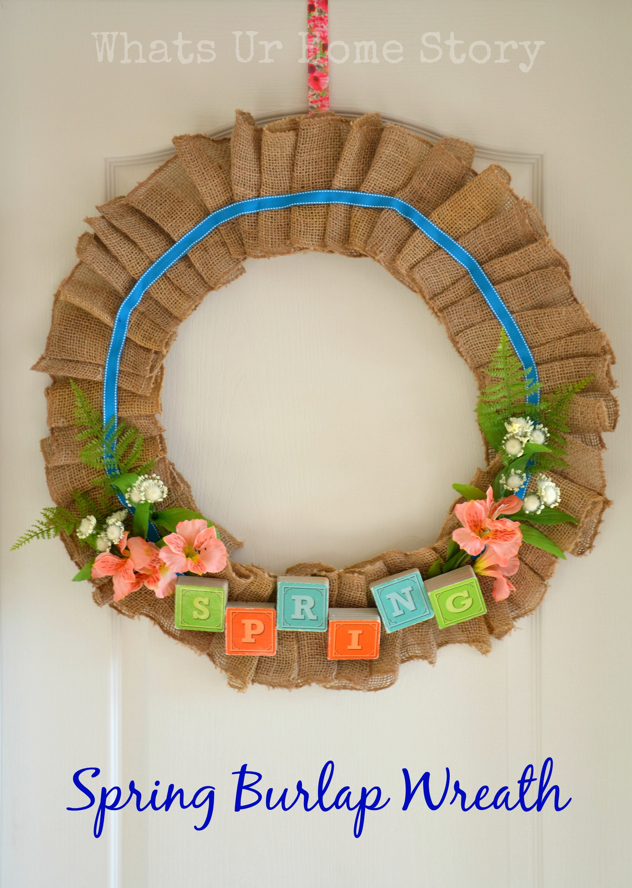 Spring Burlap Wreath & A Mega Linky Party | Whats Ur Home Story