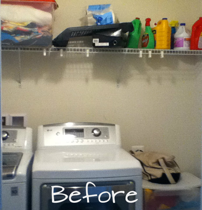 Simple DIY Wall Shelves For The Laundry Room Whats Ur Home Story - Laundry room shelves