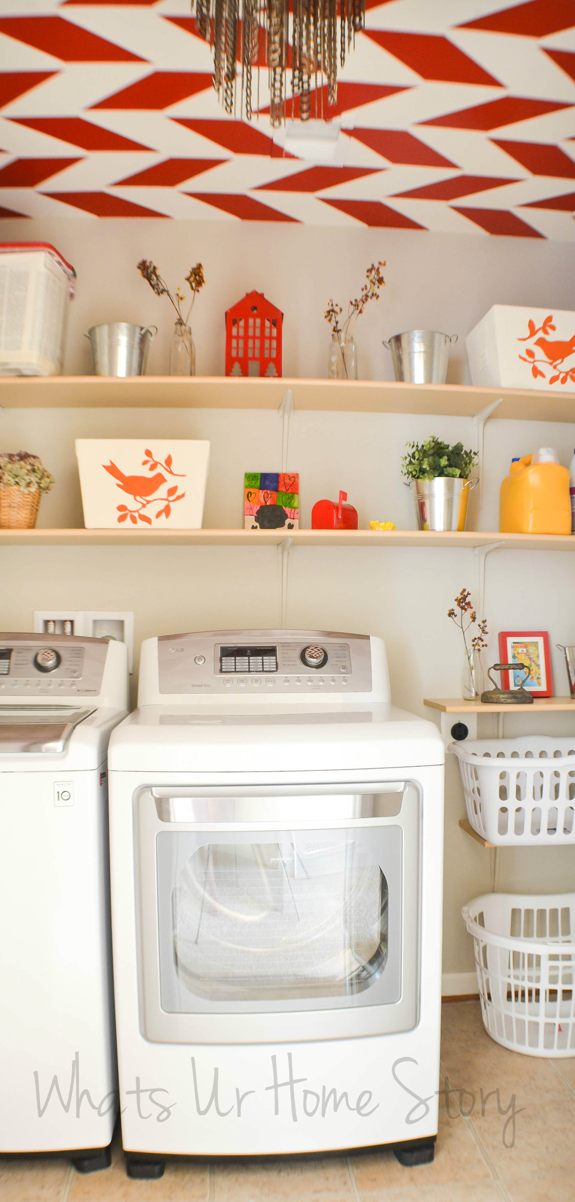 Simple diy wall shelves for the laundry room whats ur home story simple diy wall shelves for the laundry room amipublicfo Image collections