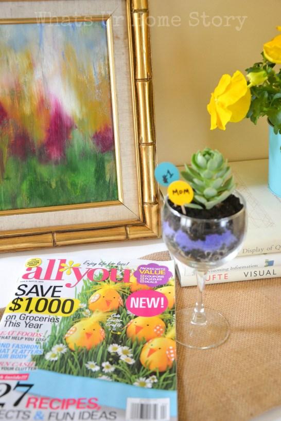 Wine Glass Planter + $50 Safeway Giveaway