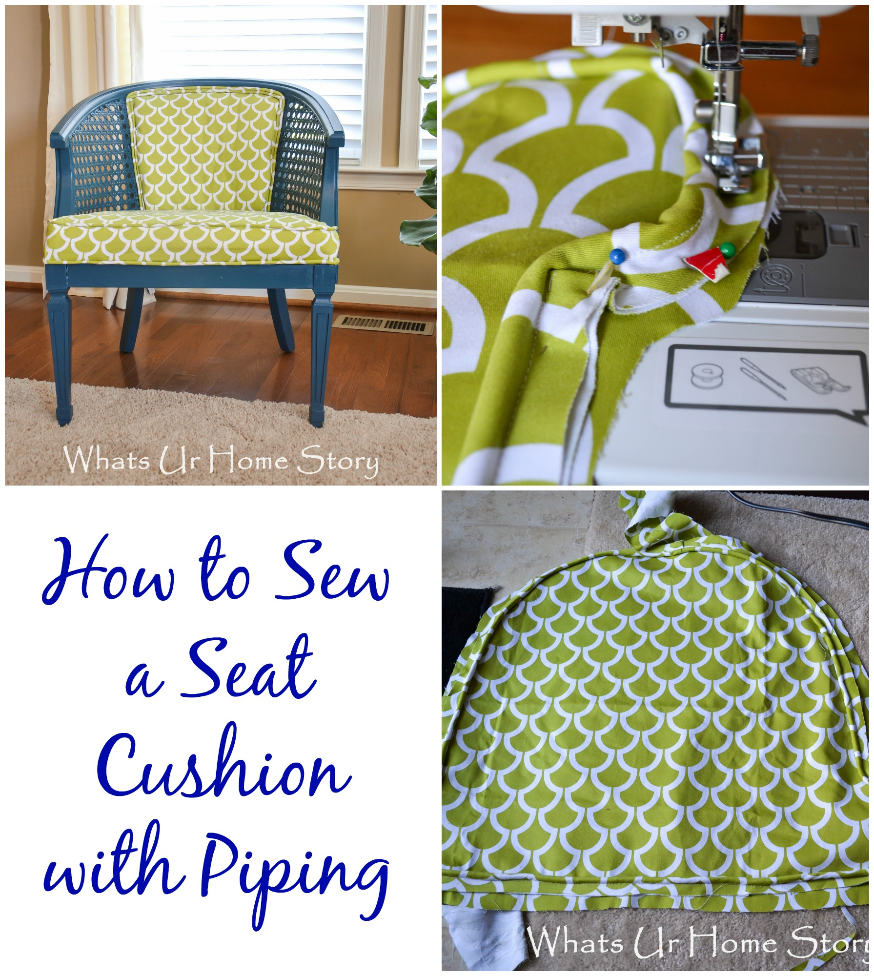 sewing patterns for chair cushions santa covers how to sew a seat cushion with piping whats ur home story