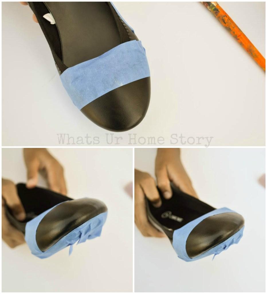 DIY Glitter Cap Toe Flats