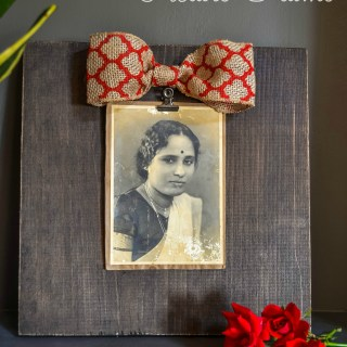 Stained Wood Picture Frame