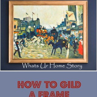 how to liquid gild a picture frame