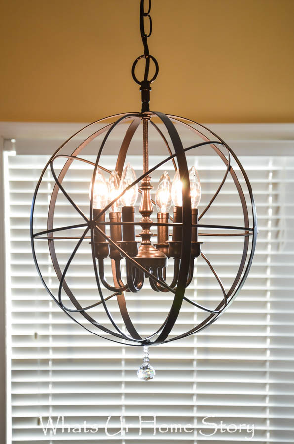 Diy orb chandelier whats ur home story diy orb chandelier mozeypictures Images