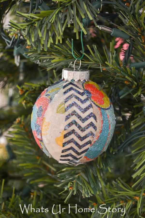 Colorado Christmas Ornaments Part - 28: Fabric Scraps Christmas Ornament