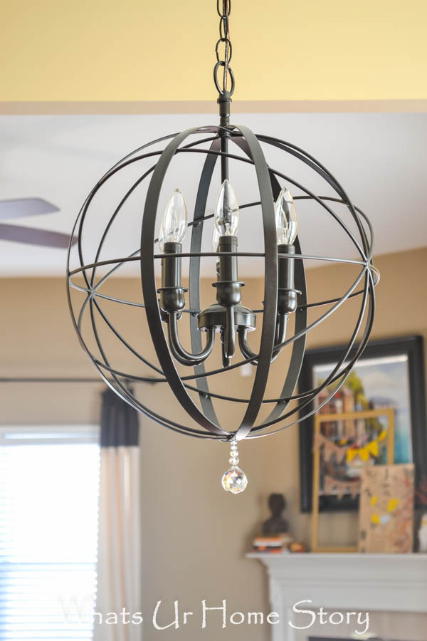 DIY Orb Chandelier