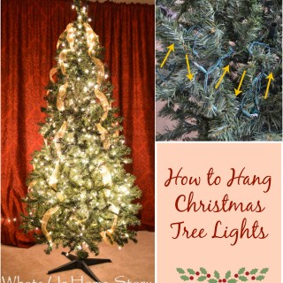 How to Hang Christmas Tree Lights Tutorial