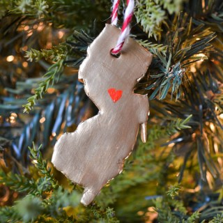 Polymer Clay State Ornament New Jersey