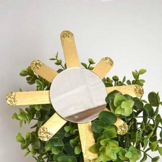 Sunburst mirror ornament DIY