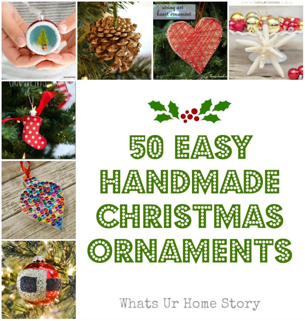 My Favorite 50 DIY Christmas Ornaments