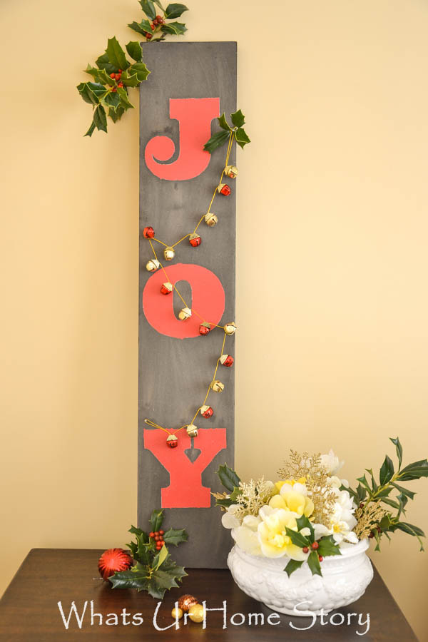 christmas joy wooden sign by whats ur home story