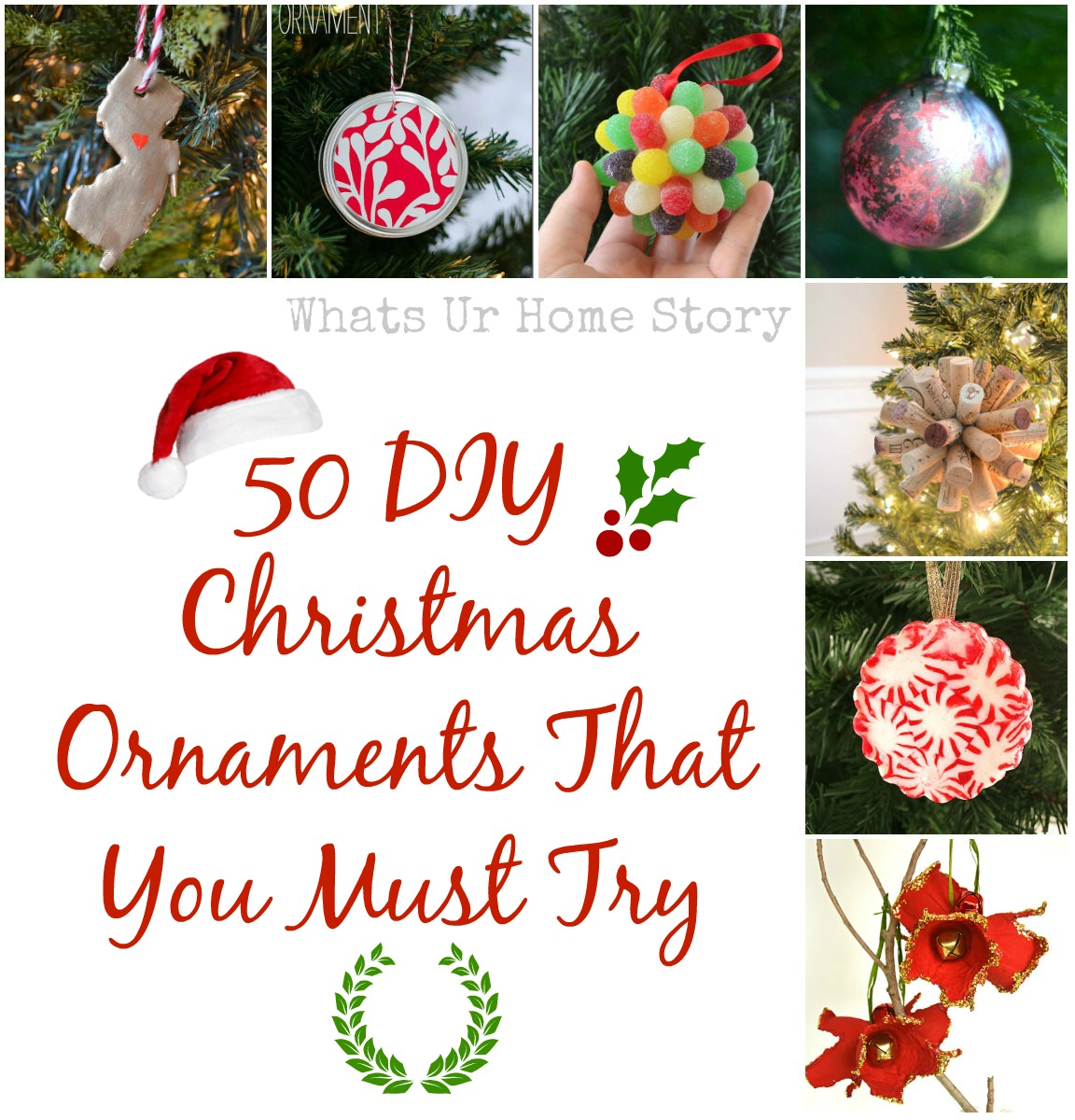 My Favorite 50 DIY Christmas Ornaments | Whats Ur Home Story