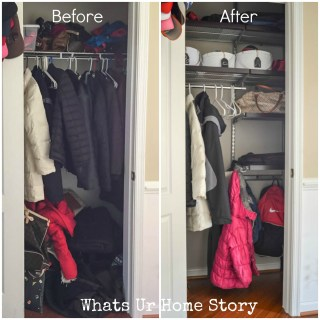 Coat closet Orgnaization Whats Ur Home Story