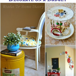 Great tips on how to decorate on a budget