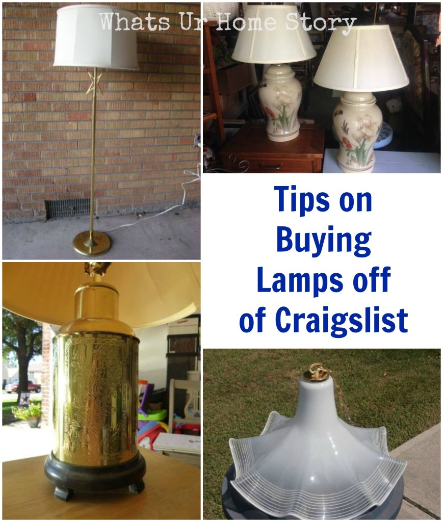 Buying Lamps off of Craigslist