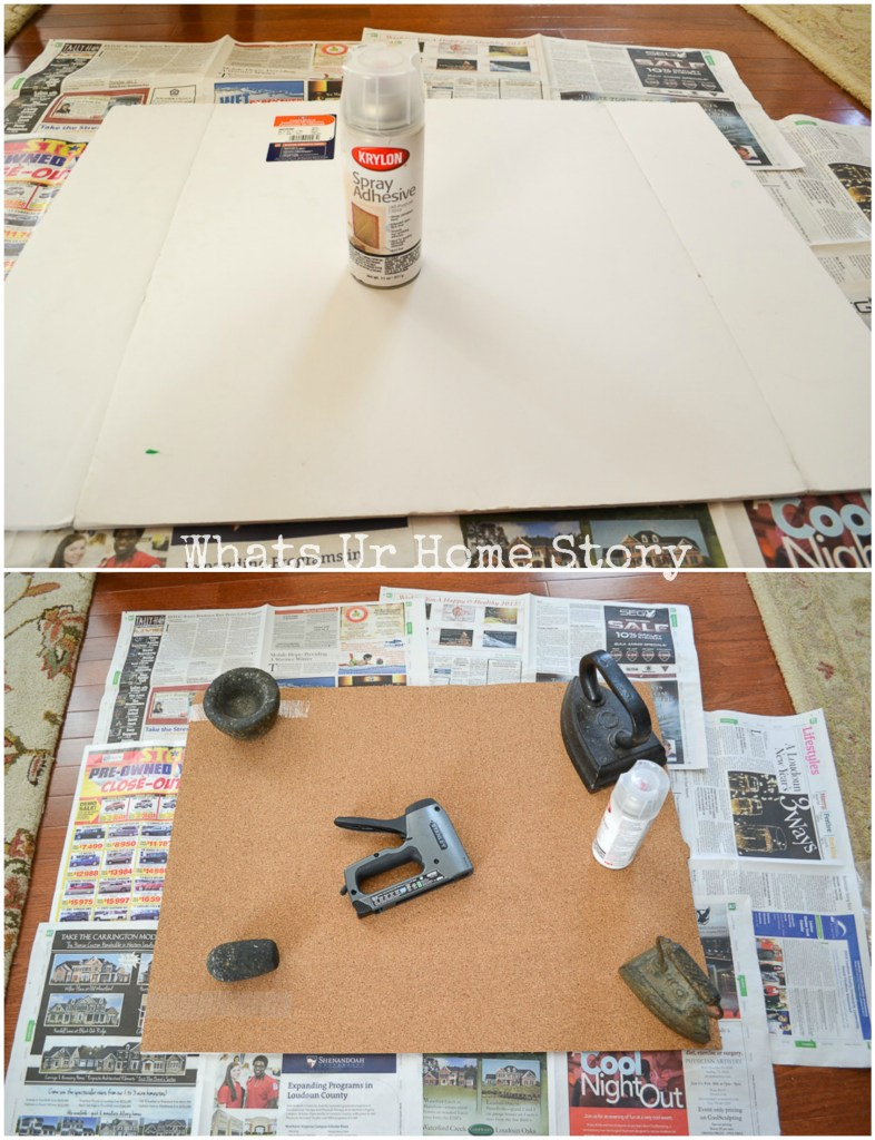 DIY Cork Board From A Frame