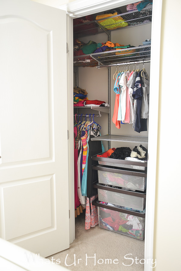 the tiny girl s room closet gets an elfa makeover whats ur home story rh whatsurhomestory com