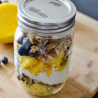 The easiest breakfast recipe you will ever make Blueberry Mango Yogurt Parfait