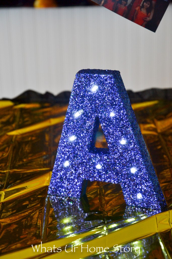 DIY Glitter Marquee Letter