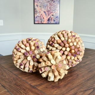 Giant DIY Cork Balls and Washington DC street map