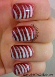 candy stripes christmas gel polish