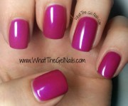purple and pink swatches of ibd