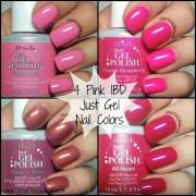 4 pink ibd gel nail polish
