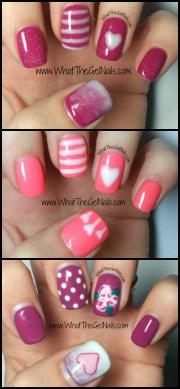 valentine nail design with gel