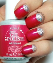gel polish glitter nails