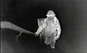 Thermal image of fireman