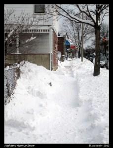 Snowy Sidewalk in Somerville