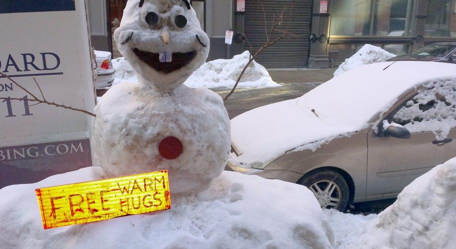 Boston winter snowman