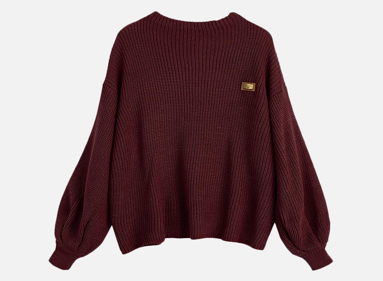 ZAFUL Women's Casual Loose Knitted Sweater.