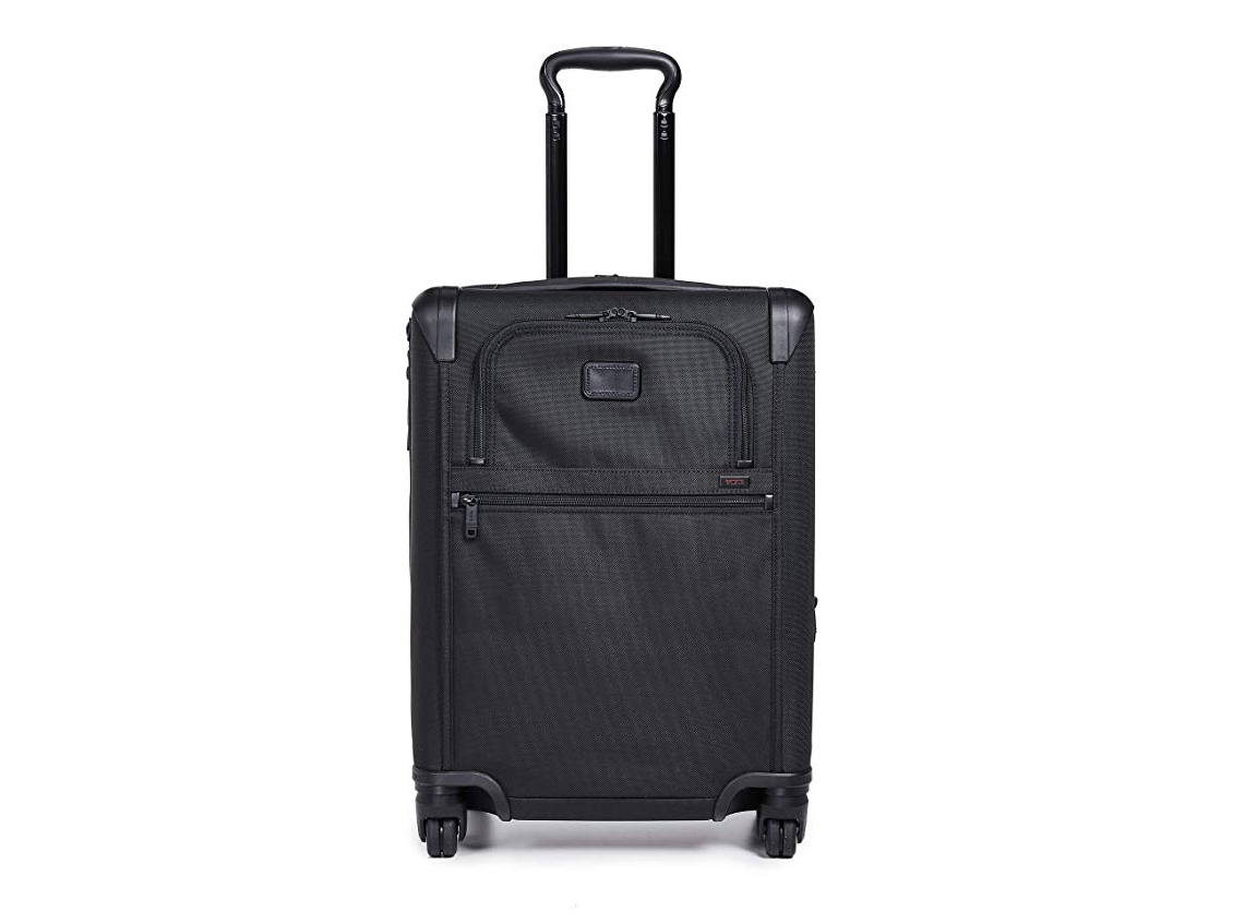 TUMI - Alpha 2 Continental Expandable 4 Wheel Carry-On Luggage - Rolling Suitcase for Men and Women - Black