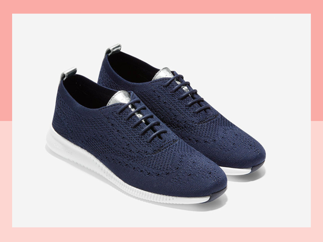 Cole Haan 2.Zerogrand Stitchlite Oxford women's dark blue shoes