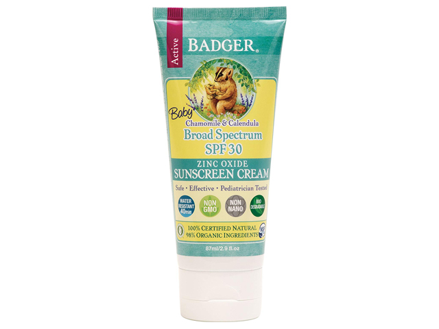 Zinc Oxide Reef Safe Baby Sunscreen Cream by Badger