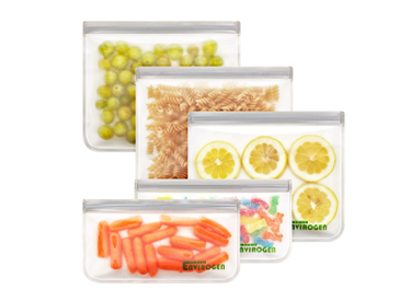 Envirogen Reusable Storage Bags - EXTRA THICK 5 Pack.