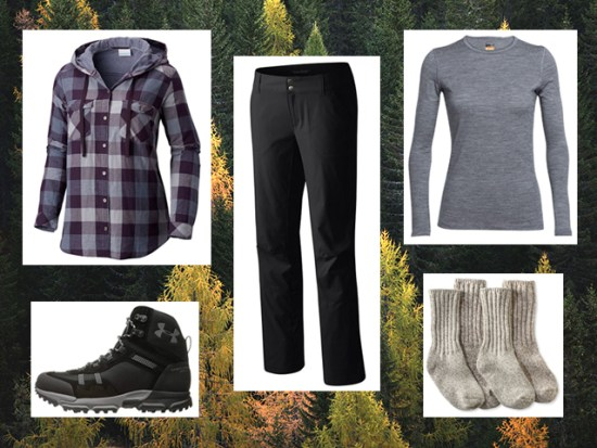 What to Wear Fall Hiking, Women's Outfit