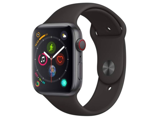 Apple Watch Series 4 (GPS + Cellular, 44mm) - Space Gray Aluminium Case with Black Sport Band