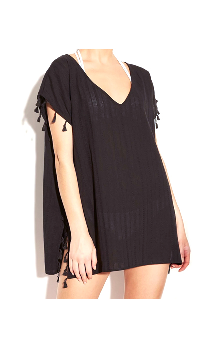 Target Cover 2 Cover Women's Tassel Trim Poncho Cover Up Dress