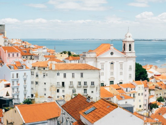 LIsbon Portugal Rooftop view
