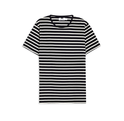 Navy And Off White Stripe T-Shirt Topman