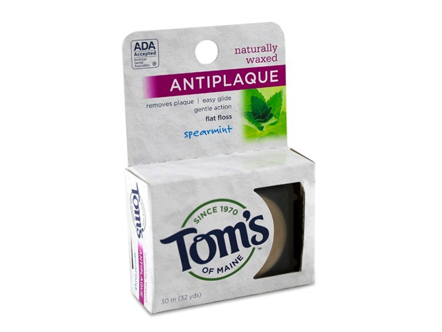 Spearmint Antiplaque Flat Floss by Tom's of Maine
