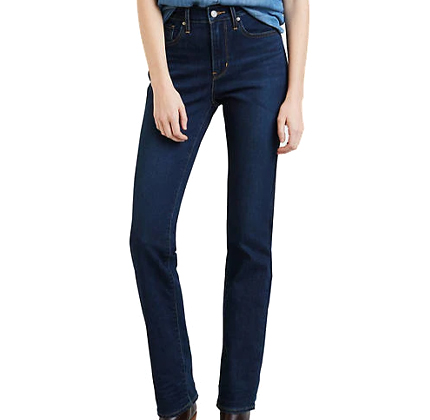 Levi 724 High Rise Straight Jeans.