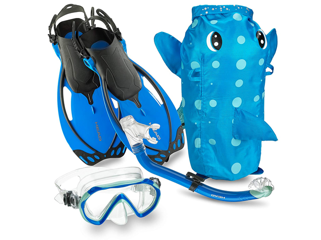 Mares Italian Collection Premium Youth Sea Pals Character Kids Mask Fin Snorkel Set.