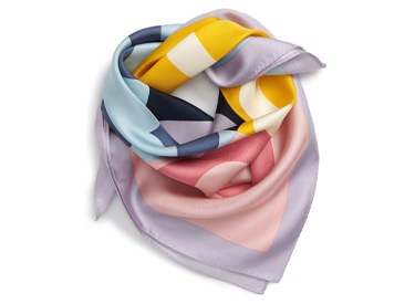 T-Logo Colorblock Silk Scarf TORY BURCH.