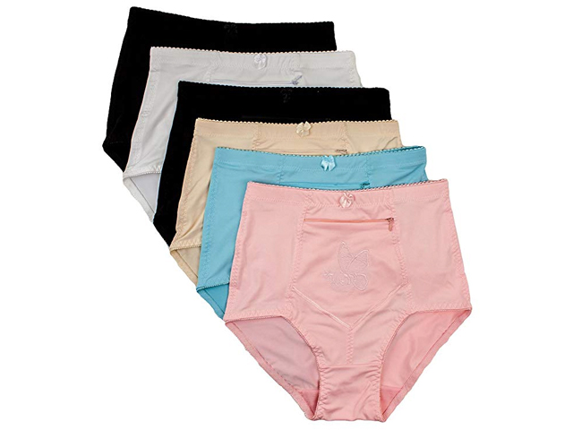 Barbra's Women's Travel Pocket Underwear Girdle Brief Panties.